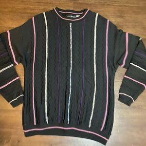 Vintage Halston Grandpa Sweater - L